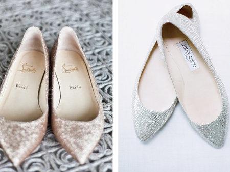 誰說結婚一定要穿高跟鞋?平底鞋新娘當道