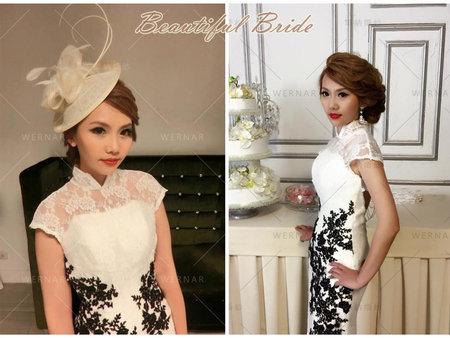 中國風旗袍搭配兩種造型絕美