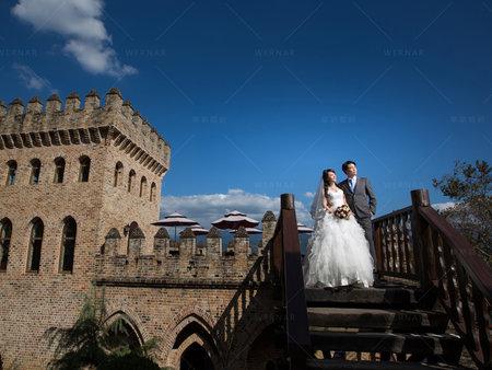 在台灣拍的婚紗沒錯!歐洲莊園原來在這裡