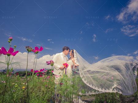 長頭紗的拍攝的幸福密技~結婚照的幸福焦點