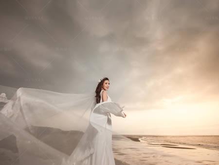 水晶禮服裸紗華麗又性感!白色晚禮服の幸福樣