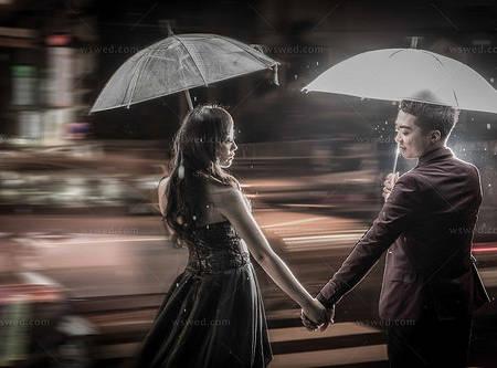 下雨也能拍出另外一番浪漫情境!意外場景☂美麗愛情
