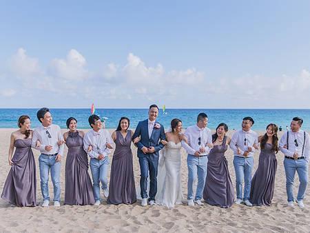 海岸戶外婚禮8個必備條件!光看這片沙灘和大海就夠讓人幸福一整天❤