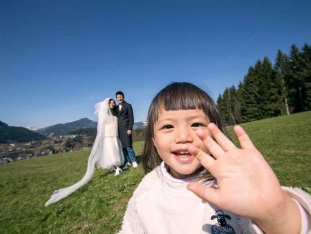 宥勝遲來的婚紗照終於公布啦!裡面全都是宥勝滿滿的父愛