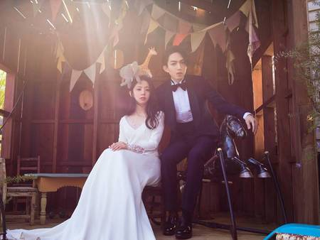 林宥嘉自然系童趣婚紗照曝光!就連側拍照都甜到爆炸