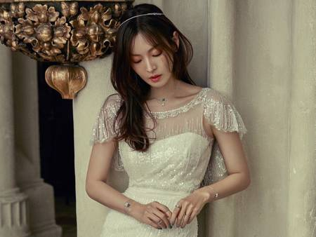 韓星金素妍婚紗海報曝光!兩人相視而笑的畫面讓人閃瞎