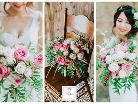 美式多層次捧花大集合!多點空間更美麗,新娘一定要有的個性手綁捧花