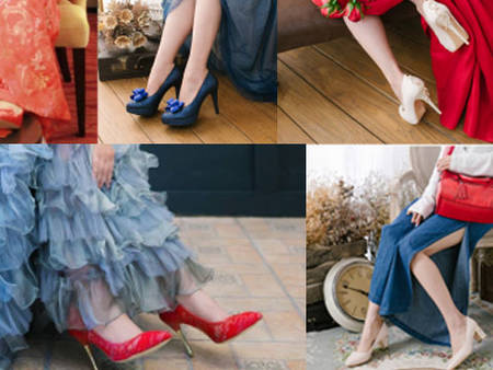 驚艷全場的5種婚鞋搭配方法!婚鞋與婚紗的新娘子婚禮實拍案例
