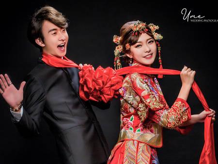 妳是我的白月光!穿上中式婚紗拍婚紗 大紅喜氣竟如此迷人♥