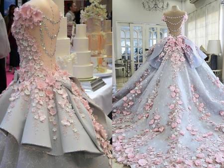 全球僅一件!你沒見過的「婚紗蛋糕」絕美到無法想像