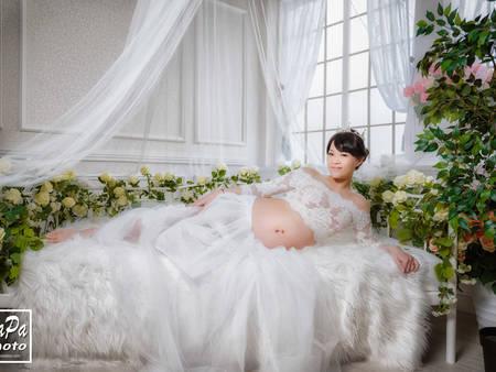 「孕媽咪」的絕美婚紗!紀錄新生命的美好時刻♥