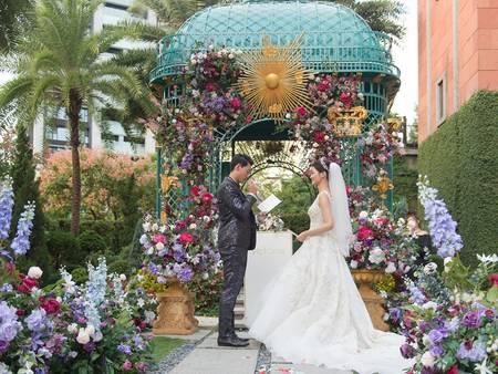 美到讓人心痛!【維多麗亞酒店】孔雀綠證婚花園✧茉莉公主專屬皇族婚禮