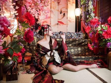 性感新娘必拍!日系「花魁風」婚紗照 這樣拍其實很可以❤