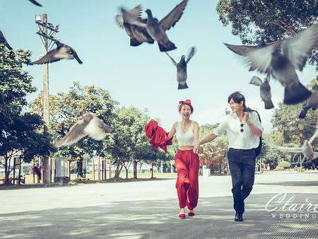拍出城市戀人約會日常 !台北7大街頭婚紗外拍景點推薦|辛辛克萊Claire 婚紗攝影